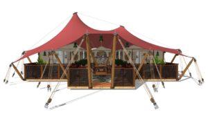 Gotland; Unique and adventurous glamping tent