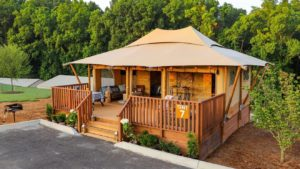 YALA Stardust glamping tent with bathroom