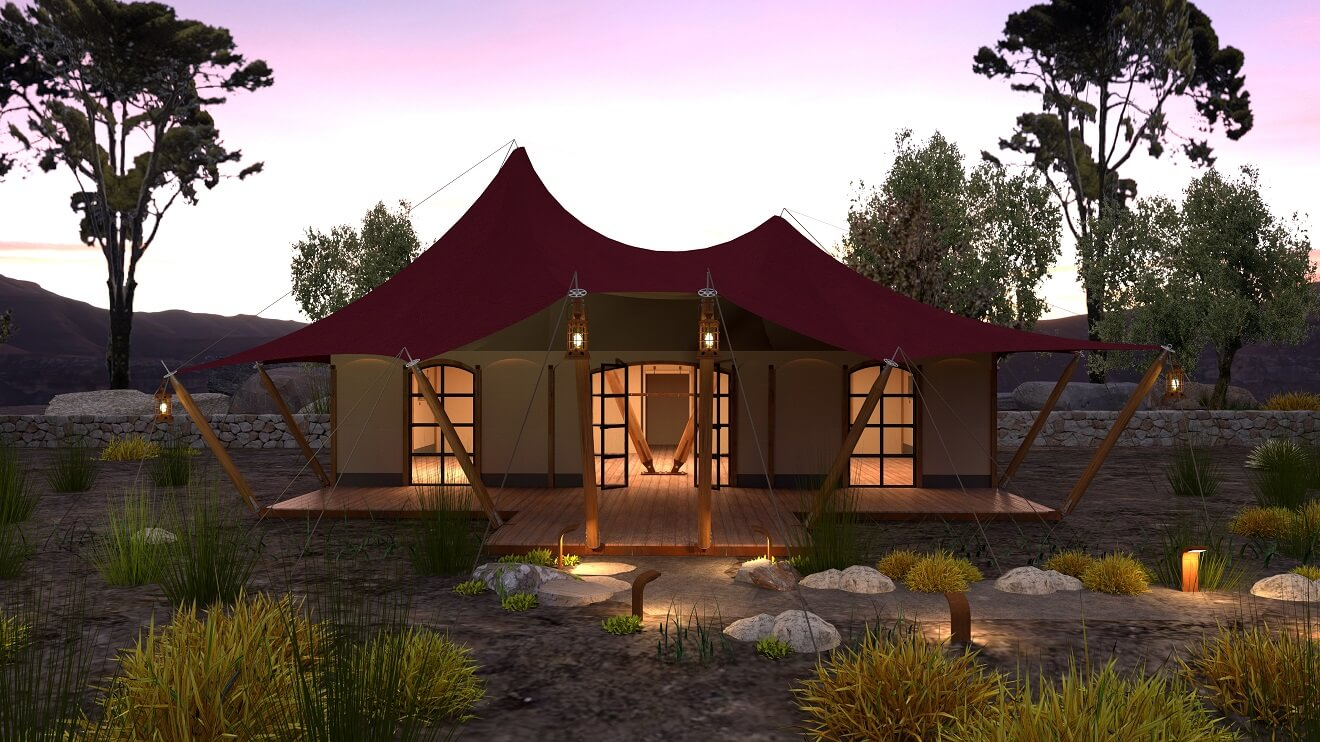 YALA_Aurora_Venue_front_view_luxury_glamping_canvas_lodges