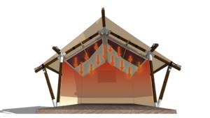 YALA cubiertas de calefacción por infrarrojos a tiendas glamping