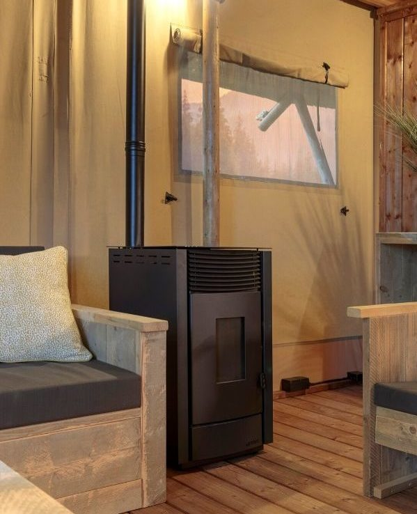 YALA pellet stove to extend the glamping season
