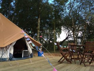 YALA_BellTent_with_terras_landscape - YALA_BellTent_at_EigenWijze_Netherlands_landscape - Safari tents and glamping lodges