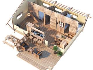 YALA_Dreamer40_3D_floorplan - Safari tents and glamping lodges
