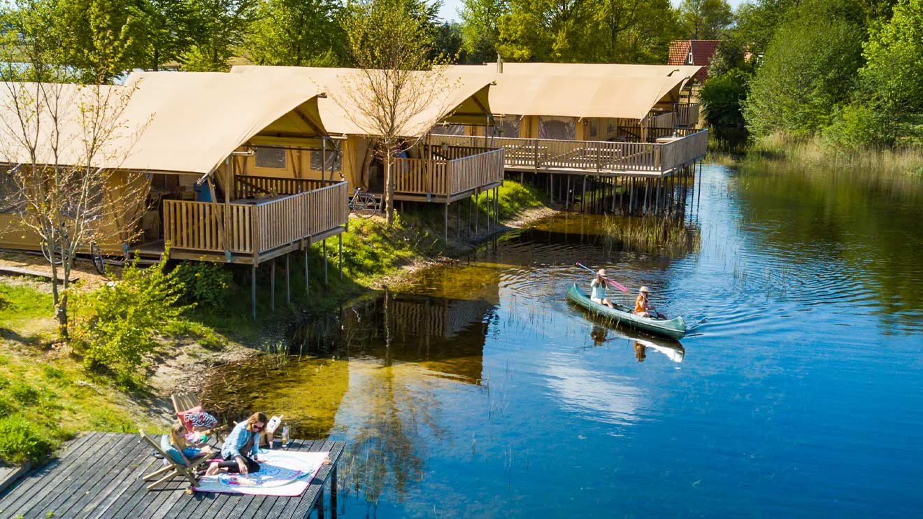 YALA_Sunshine_at_campsite_EigenWijze_Netherland_landscape - Safari tents and glamping lodges