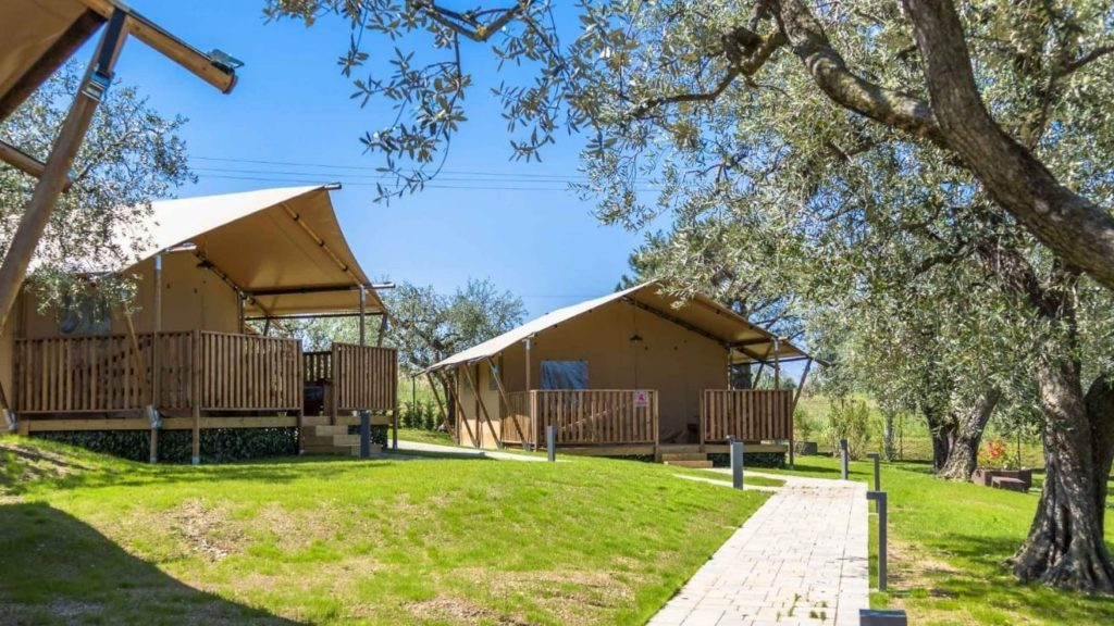 YALA_Sunshine_at_the_campsite_with_trees - Safari tents and glamping lodges