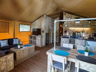 YALA_Sunshine_interior_with_kitchen_landscape - Safari tents and glamping lodges