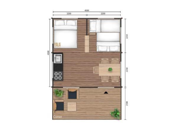 YALA_Comet_Classic_segment_2D_floorplan_with_two_bedrooms