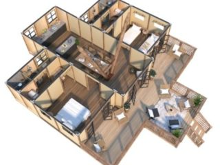 YALA_Aurora_luxury_canvas_glamping_lodge_3D_floorplan
