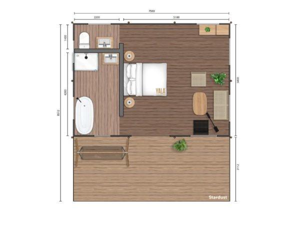 YALA_Stardust40_Deluxe_segment_hotel_suite_2D_floorplan
