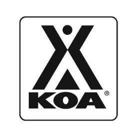 Logo KOA Kampgrounds Of America - partner of YALA luxury canvas lodges
