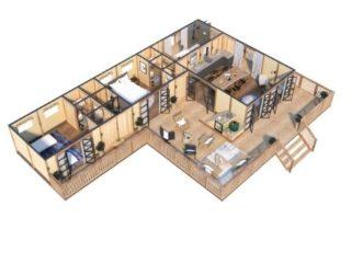 YALA_Supernova_luxury_canvas_glamping_lodge_3D_floorplan_ground_floor