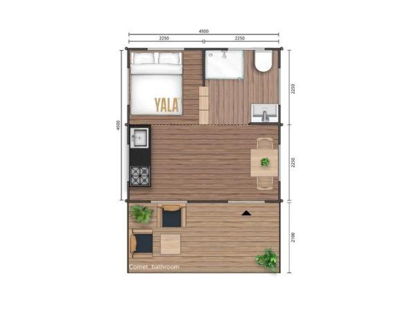 YALA_Comet_Classic_segment_2D_floorplan_withbedroom_and_bathroom