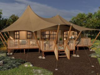 YALA_Aurora_luxury_canvas_glamping_lodge_front_view_by_day