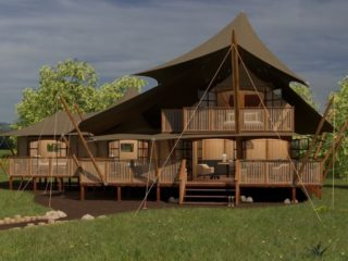 YALA_Supernova_luxury_canvas_glamping_lodge_front_view_by_day