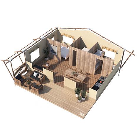 YALA_Stardust_3D_floorplan - Cabanas para safari e tendas para glamping