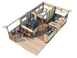 YALA_Twilight_3D_floorplan_safaritent_glamping_lodge - Cabanas para safari e tendas para glamping