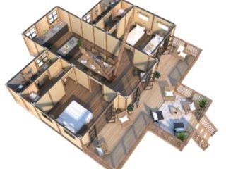 YALA_Aurora_luxury_canvas_glamping_lodge_3D_floorplan