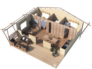 YALA_Stardust_3D_floorplan - サファリテント | グランピングロッジ