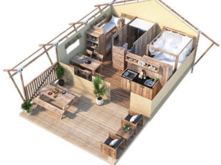 YALA_Sunshine27_3D_floorplan - サファリテント & ゲランピングロッジ