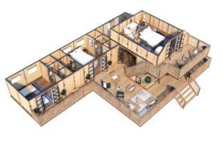 YALA_Supernova_luxury_canvas_glamping_lodge_3D_floorplan_including_second_floor